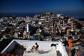 Top views of favelas in Rio