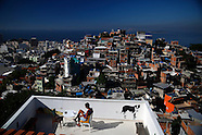 Top views of favelas in Rio