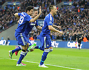 Chelsea's John Terry celebrates his goal during the Capital One Cup Final between Chelsea and Tottenham Hotspur at Wembley Stadium, London, England on 1 March 2015. Photo by Phil Duncan.
