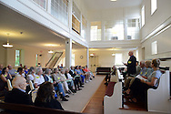 Rich Richardson speaks to a group of concerned Bucks County residents during a meeting to discuss their push for a ban on fracking at Newtown Friends Meeting House Tuesday July 7, 2015 in Newtown, Pennsylvania. (Photo by William Thomas Cain)