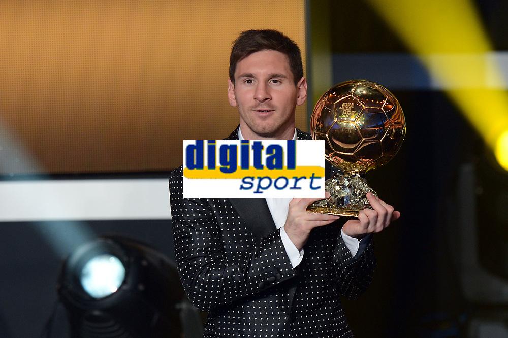 Zuerich, 7.1.2013, FIFA Ballon d'Or 2012, Lionel Messi wird Fussballer des Jahres  (Melanie Duchene/EQ Images)