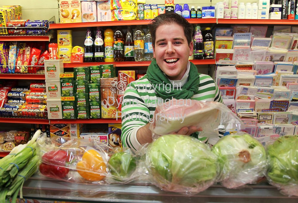 16/9/2010.Chef Edward Hayden food.Chef Edward buying local produce in the local store..Picture Dylan Vaughan..