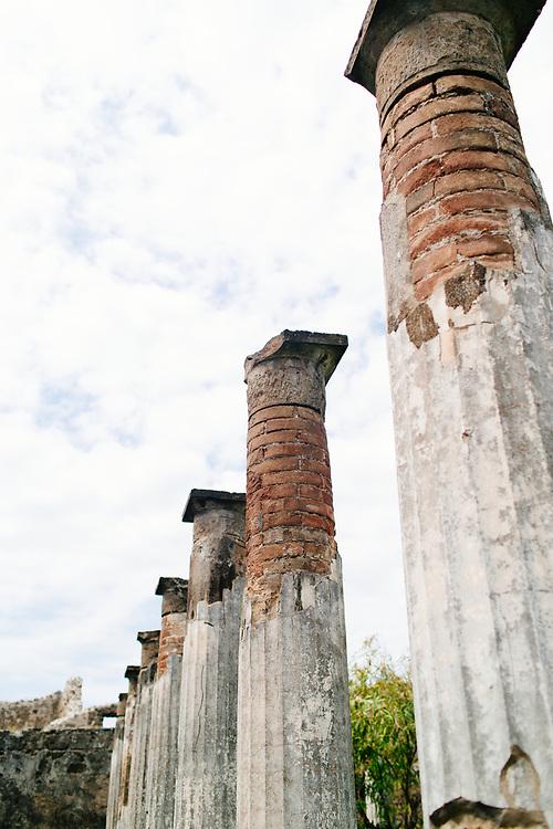 Columns in Pompeii, Italy