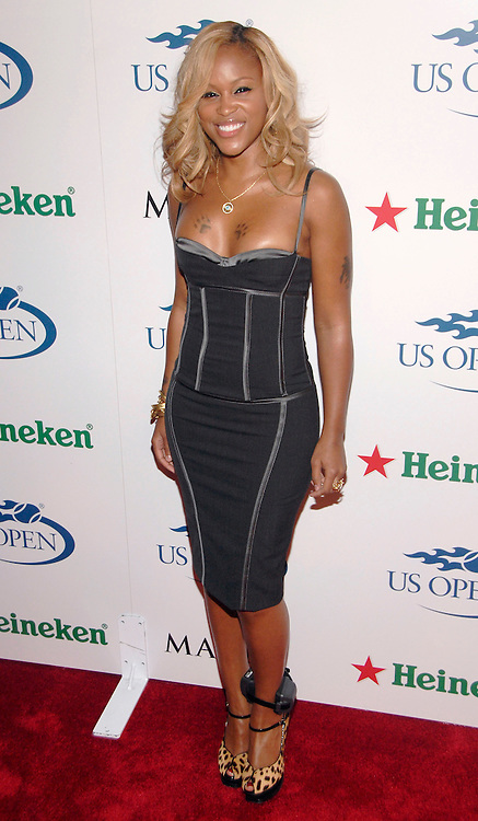 Rapper Eve attends the Heineken and Maxim Magazine 2007 US Open Kick-Off party in club Ono at the Hotel Gansevoort in the meat-packing district on Friday, August 24, 2007 in New York.