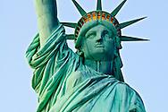 Staue of Liberty frontal tight at dusk