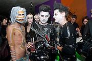 JACK GUINNESS; HENRY HOLLAND; TOM GIDDINS, Browns Focus Halloween party. Shepherds Bush pavilion. Shepherds Bush. London. 30 October 2009