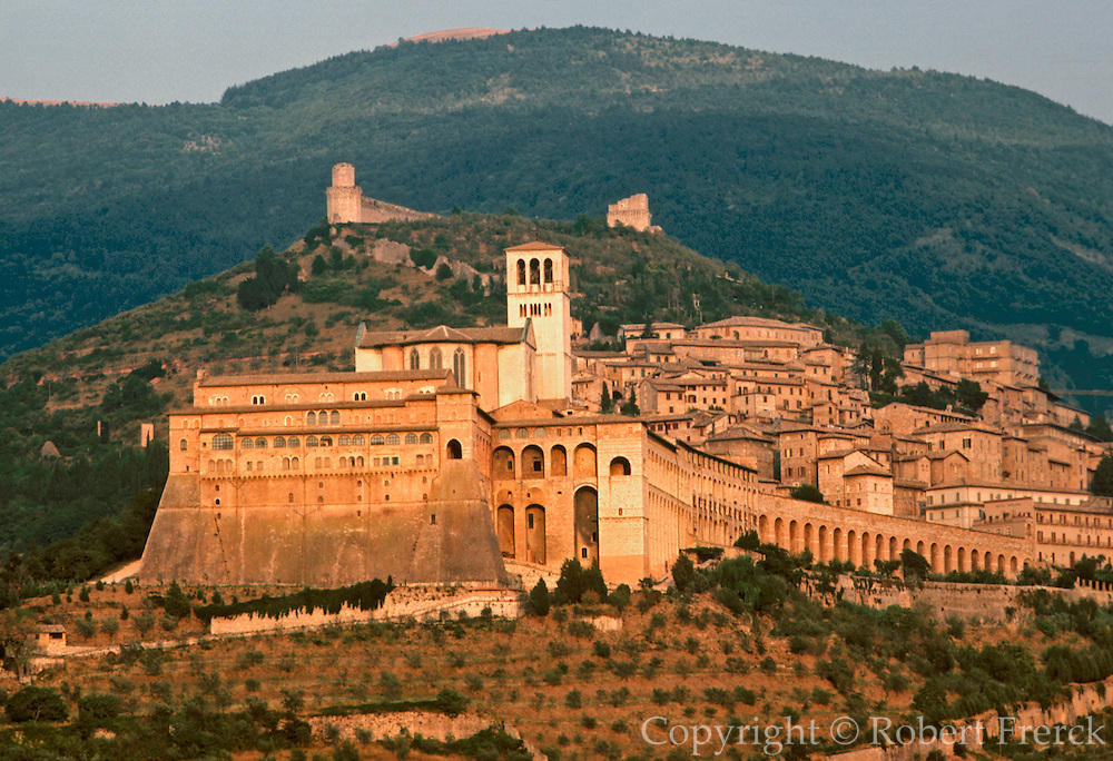 ITALY, ASSISI St. Francis' Basilica built in 1253 by Brother Elias with the monastery on the slopes of Monte Subasio