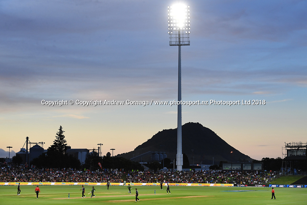 A general view of Bay Oval.<br /> Pakistan tour of New Zealand. T20 Series. 3rd Twenty20 international cricket match, Bay Oval, Mt Maunganui, New Zealand. Sunday 28 January 2018. &copy; Copyright Photo: Andrew Cornaga / www.Photosport.nz
