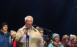 10.01.2016, Schladming, AUT, Special Olympics Pre-Games in Graz-Schladming-Ramsau, Eröffnungsfeier im WM-Park Planai, im Bild Günther Ziesel // Günther Ziesel during the opening ceremony of the Special Olympics Pre-Games in Schladming, Austria on 2016/01/10. EXPA Pictures © 2016, PhotoCredit: EXPA / Martin Huber