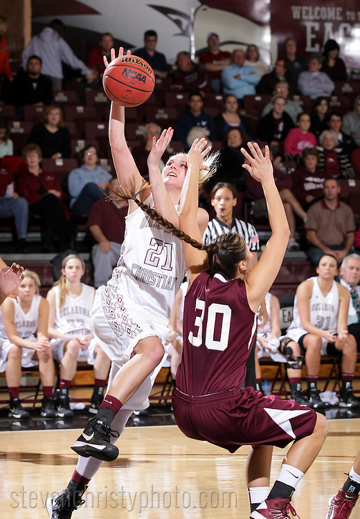 January 24, 2013: The Texas A&M International Dustdevils play against the Oklahoma Christian University Lady Eagles at the Eagles Nest on the campus of Oklahoma Christian University.