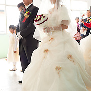 Bride and Groom in Church, Namasiya Township, Kaoshiung County, Taiwan