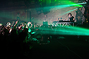 Skrillex performing at Brooklyn Bowl in Brooklyn, New York as part of his 2014 Brooklyn takeover series on February 10, 2014.