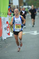 Tomaz Ferjancic  v cilju na 13. Ljubljanskem maratonu po ulicah Ljubljane, 26. oktobra 2008, Ljubljana, Slovenija. (Photo by Vid Ponikvar / Sportal Images)./ Sportida)