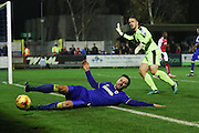 AFC Wimbledon midfielder Chris Whelpdale (11) during the EFL Sky Bet League 1 match between AFC Wimbledon and Fleetwood Town at the Cherry Red Records Stadium, Kingston, England on 26 November 2016. Photo by Stuart Butcher.