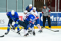 GREGORC Blaz (SLO) during OI pre-qualifications of Group G between Slovenia men's national ice hockey team and Croatia men's national ice hockey team, on February 7, 2020 in Ice Arena Podmezakla, Jesenice, Slovenia. Photo by Peter Podobnik / Sportida