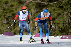CHOKHLAEV Stanislav Guide: PIROGOV Maksim competing in the Nordic Skiing XC Long Distance at the 2014 Sochi Winter Paralympic Games, Russia
