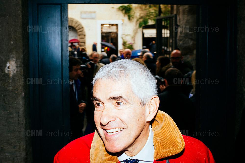 Pier Ferdinando Casini. Presentazione di Civica Popolare Lorenzin per le politiche del 4 marzo 2018. Roma 9 Gennaio 2018. Christian Mantuano / OneShot