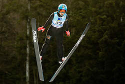 Lidiia Iakovleva of Russia soaring through the air during 1st Round at Day 1 of World Cup Ski Jumping Ladies Ljubno 2019, on February 8, 2019 in Ljubno ob Savinji, Slovenia. Photo by Matic Ritonja / Sportida