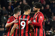 Goal - Philip Billing (29) of AFC Bournemouth celebrates after he scores a goal to give a 3-0 lead with Dominic Solanke (9) of AFC Bournemouth during the The FA Cup match between Bournemouth and Luton Town at the Vitality Stadium, Bournemouth, England on 4 January 2020.