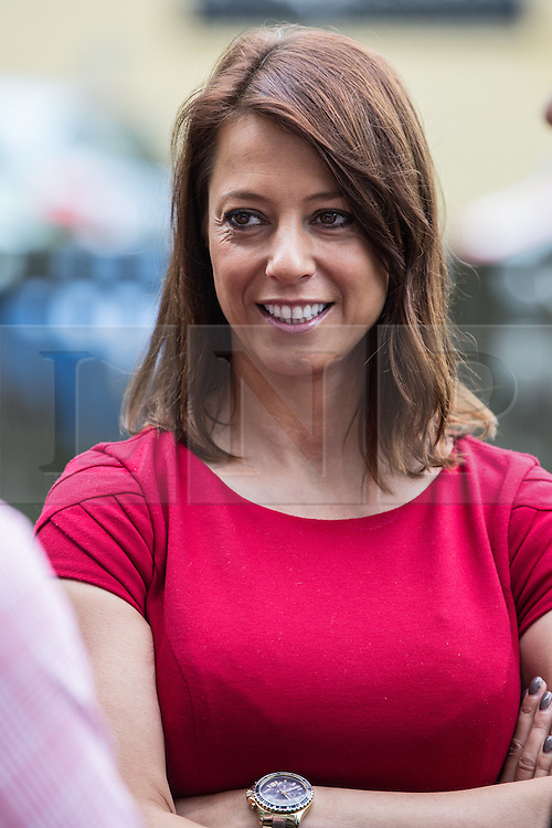 © Licensed to London News Pictures. 20/07/2015. London, UK. Gloria De Piero, Labour MP for Ashfield at Roupell Park Estate in Brixton to talk about renewable energy with Labour Leadership candidate Liz Kendall. Photo credit : James Gourley/LNP
