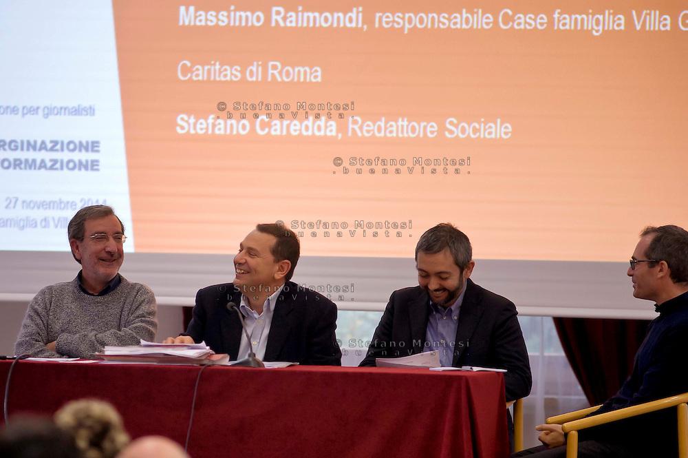 Roma 27 Novembre 2014<br /> Carit&agrave;, emarginazione e informazione, la Caritas di Roma propone un evento formativo per i giornalisti. Teatro di Villa Glori presso le Case Famiglia della Caritas di Roma