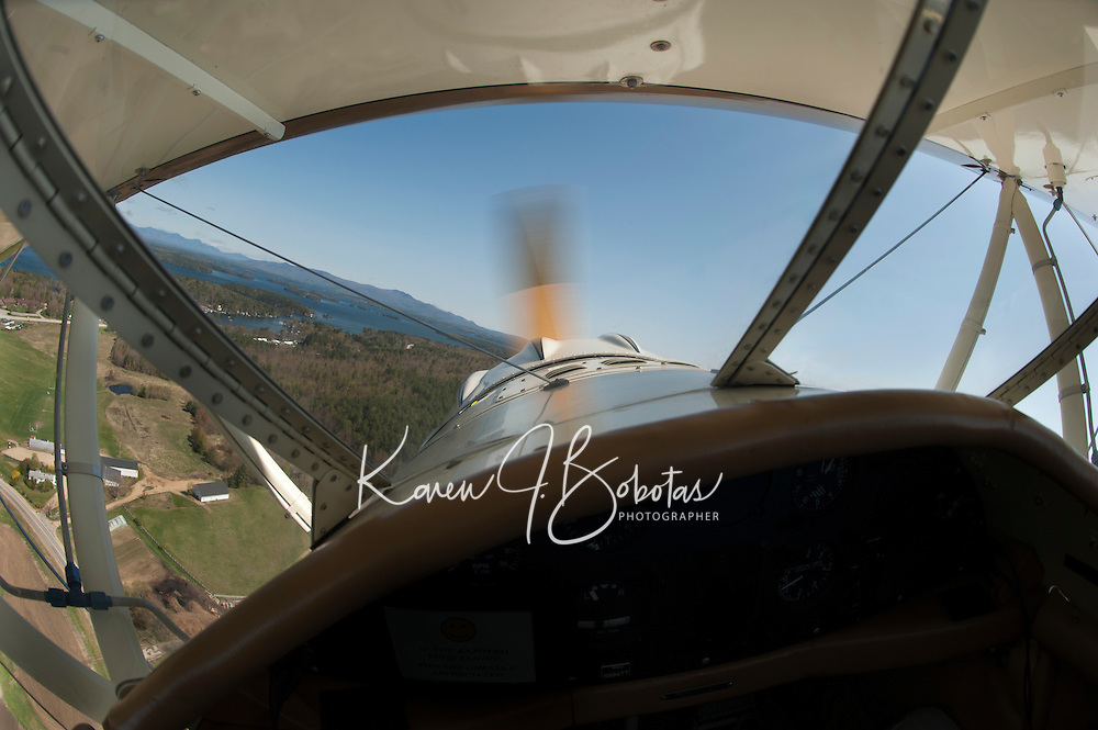 A birthday flight in Lakes Biplane April 28, 2012.