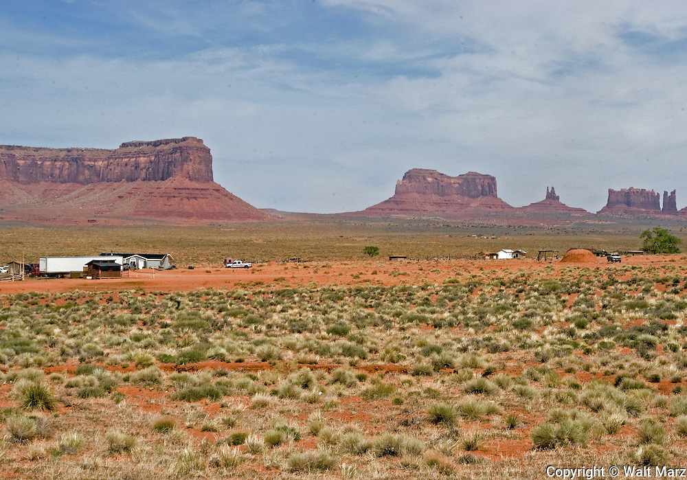 Monument Valley's rock formations are noteworthy because they resemble animals, familiar images or historic person, etc.  From left to right: Eagle Rock, Brigham's Tomb, The King on his throne, Castle Butte, and Big Indian