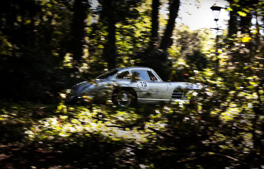 MB 300 SL is participating in Bensberg classic rally