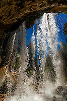 Spouting Rock waterfalls, near Hanging Lake, Glenwood Canyon, near Glenwood Springs, Colorado USA.