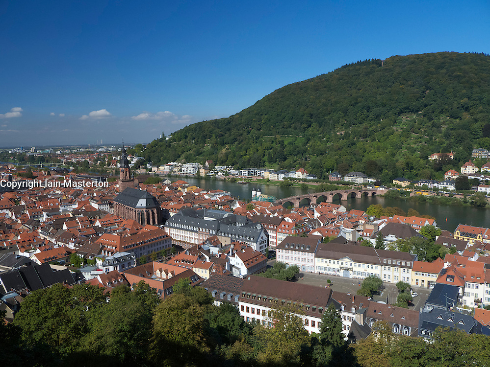 Skyline of City of Heidelberg in Baden-Wurttemberg Germany