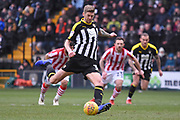 Notts County forward Jonathan Stead (30) takes a penalty and scores 1-0 during the EFL Sky Bet League 2 match between Notts County and Lincoln City at Meadow Lane, Nottingham, England on 2 February 2019.