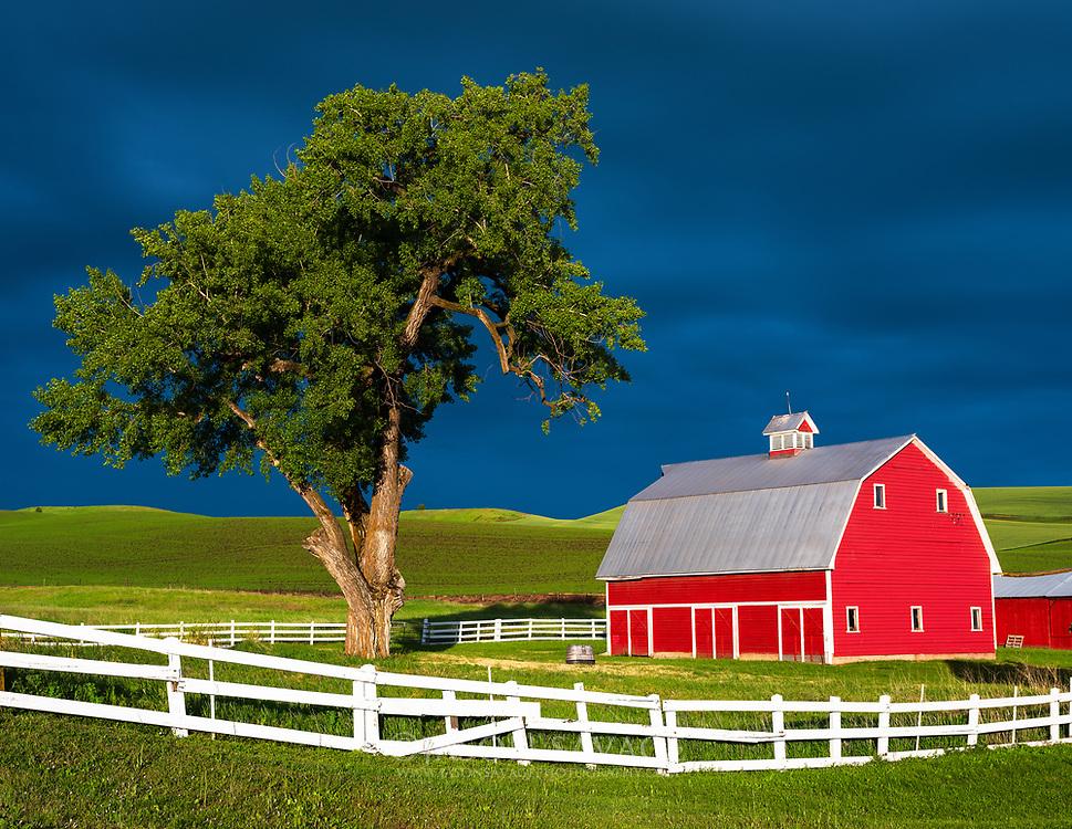 Red Barn in the Palouse, Washington