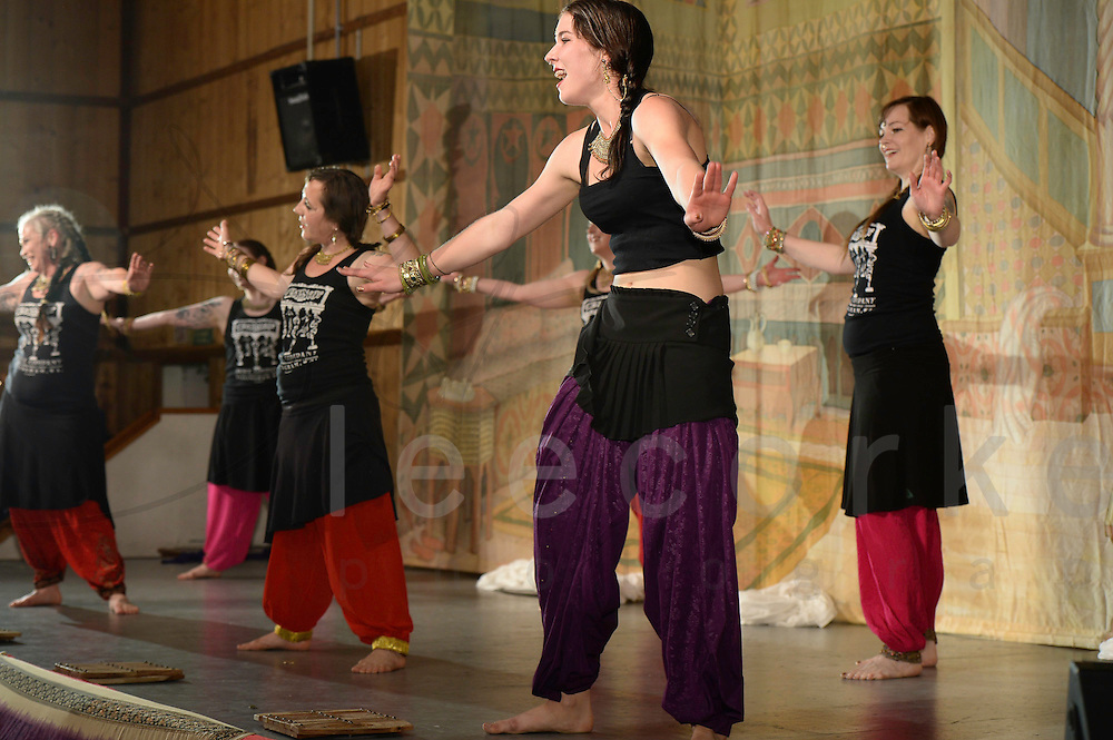 A dance performance at Tribal Fest 2014, in Sebastopol, California
