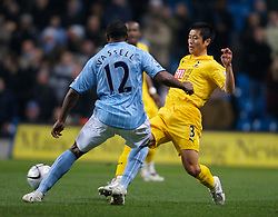 MANCHESTER, ENGLAND - Tuesday, December 18, 2007: Tottenham Hotspur's Young-Pyo Lee during the League Cup Quarter Final match at the City of Manchester Stadium. (Photo by David Rawcliffe/Propaganda)