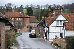 © Licensed to London News Pictures. 27/01/2012. Little MIssenden, UK. The town of Little Missenden, Buckinghamshire which is on the current planned route for the new HS2 (High Speed Rail 2). Scheduled to be completed by 2033, the new Rail system will have huge effects on the chocolate box English village. Photo credit : Ben Cawthra/LNP