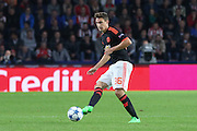 Matteo Darmian of Manchester United on the ball during the Champions League Group B match between PSV Eindhoven and Manchester United at Philips Stadion, Eindhoven, Netherlands on 15 September 2015. Photo by Phil Duncan.