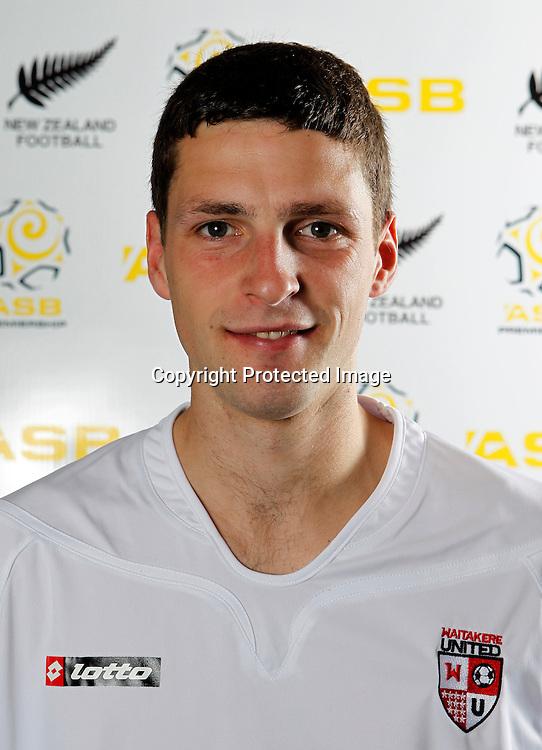 Jordan Swaney. Waitakere United head shots, Fred Taylor Park Whenuapai, Thursday 20th October 2011. Photo: Ben Campbell