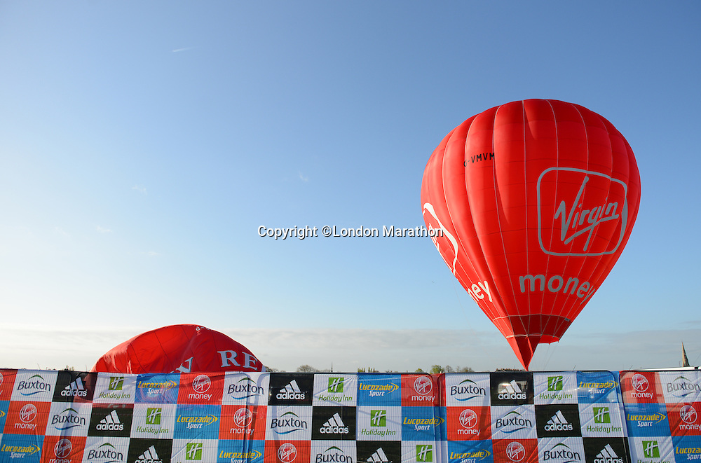Virgin Money hot air balloon<br /> The Virgin Money London Marathon 2014<br /> 13 April 2014<br /> Photo: Javier Garcia/Virgin Money London Marathon<br /> media@london-marathon.co.uk