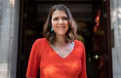© Licensed to London News Pictures. 23/07/2019. London, UK. Newly elected Liberal Democrat party leader Jo Swinson leaves television studios in Westminster. Photo credit: Peter Macdiarmid/LNP