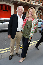 John Rendall and Carinthia West at a private view of John Cleese - The Californian Collection at the Chris Beetles Gallery, Ryder Street, Mayfair, London, on 3rd September 2013.