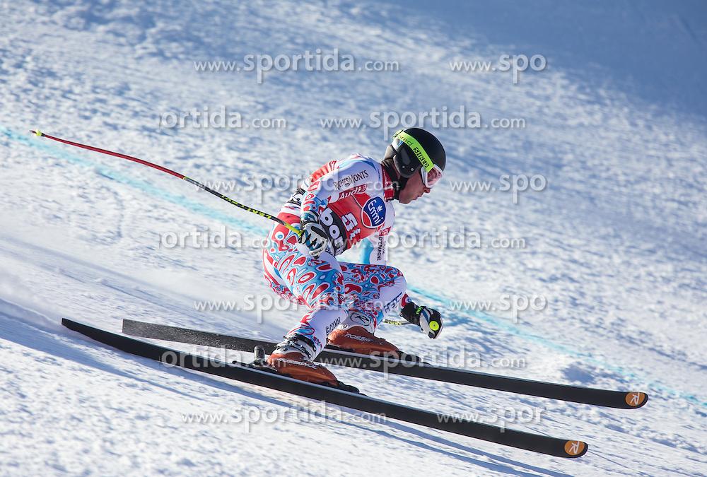 27.12.2013, Stelvio, Bormio, ITA, FIS Ski Weltcup, Bormio, Abfahrt, Herren, 1. Traininglauf, im Bild Maxence Muzaton (FRA) // Maxence Muzaton of France in action during mens 1st downhill practice of the Bormio FIS Ski Alpine World Cup at the Stelvio Course in Bormio, Italy on 2012/12/27. EXPA Pictures © 2013, PhotoCredit: EXPA/ Johann Groder