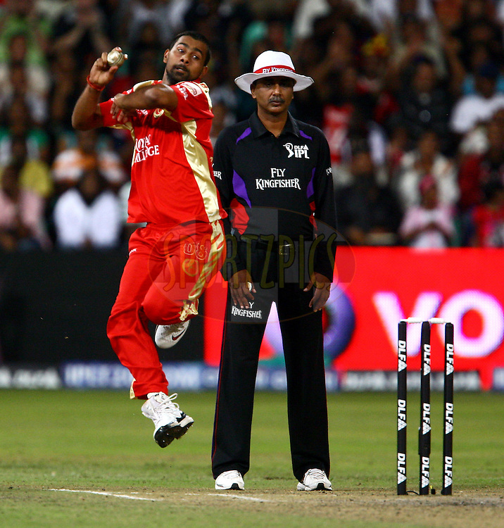 DURBAN, SOUTH AFRICA - 1 May 2009.Praveen was in fine shape during the IPL Season 2 match between Kings X1 Punjab and the Royal Challengers Bangalore held at Sahara Stadium Kingsmead, Durban, South Africa..