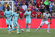 Barcelona Lionel Messi during the International Champions Cup match between Barcelona and Manchester United at FedEx Field, Landover, United States on 26 July 2017.