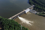 Tuckertown Dam, Hydro Dam on the Yadkin River, operated by Alcoa, North Carolina