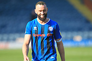 A smiling Aaron Wilbraham enjoys the win during the EFL Sky Bet League 1 match between Rochdale and Wycombe Wanderers at Spotland, Rochdale, England on 19 April 2019.