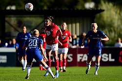 Carla Humphrey of Bristol City is challenged by Jonna Andersson of Chelsea Women - Mandatory by-line: Ryan Hiscott/JMP - 29/09/2019 - FOOTBALL - SGS College Stoke Gifford Stadium - Bristol, England - Bristol City Women v Chelsea Women - FA Women's Super League