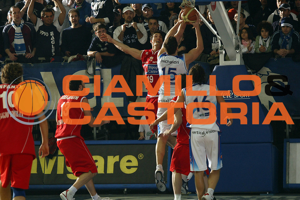 DESCRIZIONE : Cantu Lega A1 2005-06 Vertical Vision Cantu Bipop Reggio Emilia<br /> GIOCATORE : Michelori<br /> SQUADRA : Vertical Vision Cantu <br /> EVENTO : Campionato Lega A1 2005-2006<br /> GARA : Vertical Vision Cantu Bipop Reggio Emilia<br /> DATA : 08/01/2006<br /> CATEGORIA : Tiro<br /> SPORT : Pallacanestro<br /> AUTORE : Agenzia Ciamillo-Castoria/E.Pozzo