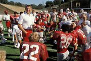 Coach Paul Wiggin and 1980 Stanford Football Team.<br /> <br /> &copy; 1980 David Madison