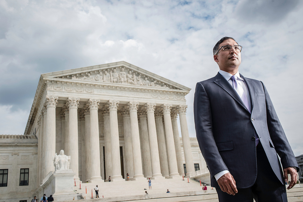 WASHINGTON, DC -- 8/10/17 -- Supreme Court lawyer Neal Katyal is one of the leading attorneys for the state of Hawaii as they fight President Trump's travel ban. Katyal, now an attorney with Hogan Lovells, and former Acting Solicitor General, has argued more cases before the Supreme Court, 34, than any other minority attorney except Thurgood Marshall, with whom he's currently tied..…by André Chung #_AC13954