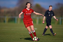 LIVERPOOL, ENGLAND - Sunday, February 4, 2018: Liverpool's Caroline Weir during the Women's FA Cup 4th Round match between Liverpool FC Ladies and Watford FC Ladies at Walton Hall Park. (Pic by David Rawcliffe/Propaganda)
